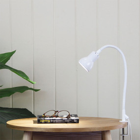Detailed Clamp Lamp White