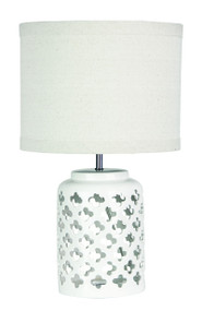 Chic Modern White Ceramic Complete Table Lamp