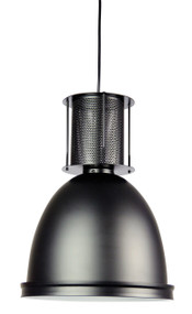 Contemporary Industrial Single Pendant Black