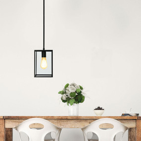 Pendant Light - Chef Table Square 1-Light Matt Black