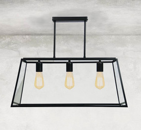 Pendant Light - Chef Table 3-Light Matt Black