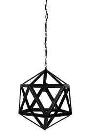 Rustic Single Pendant Matt Black