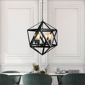 Contemporary 4 Pendant Matt Black