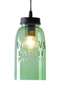 Contemporary Pendant Green Glass