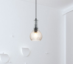 Contemporary-1 Single Pendant Clear Glass