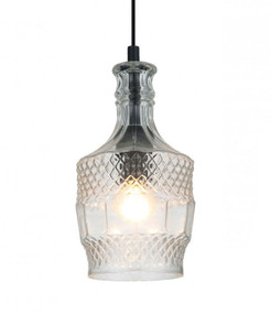 Contemporary Pendant Light - Clear Glass