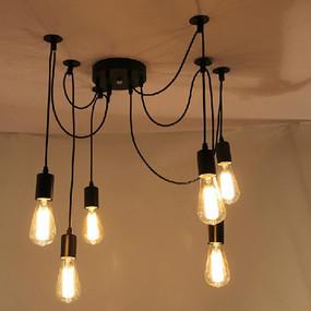 Suspension Light - 6 Lights Black PPM