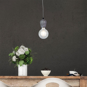 Concrete Single Pendant E27