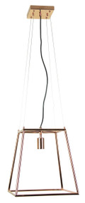 Contemporary Tubular Pendant Copper