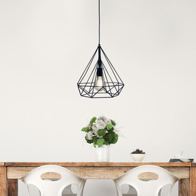 Modern-38 Wire Pendant Black