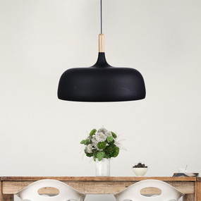 Bell-48 Single Pendant Matt Black