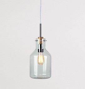 Contemporary-17 Clear Glass Pendant