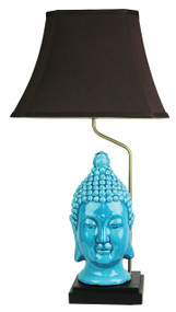 Remarkable Buddha Head Chinese Lamp with Shade