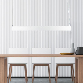 Contemporary LED Pendant 58W White 1.2m - Up and Down Light