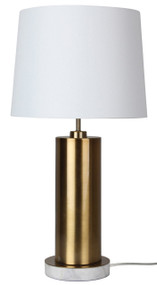 Deep Base Antique Brass Complete Table Lamp