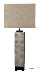 Embossed Pewter Complete Table Lamp