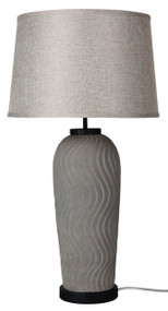 Heavy Set Concrete Complete Table Lamp