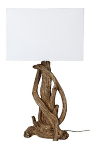 Table Lamp - Hand Made Outback Style Natural Timber