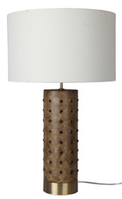 Block Leather-Look Complete Table Lamp