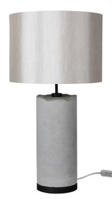 Drum Concrete Complete Table Lamp