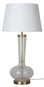 Chic Modern Clear Glass Complete Table Lamp