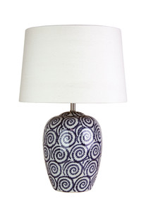 Smooth Swirled Complete Table Lamp