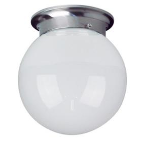 20cm Jetball Batten Fix Opal/Brushed Chrome