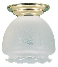 16cm Bell Frost Batten Fix / Brass