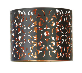 Rustic DIY Ceiling Light Black / Copper Inner