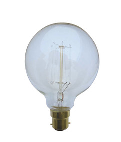 Carbon Filament B22 G125 25W 2800K 240lm Dimmable Globe