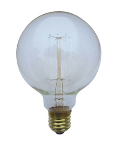 Carbon Filament E27 G125 25W 2800K 240lm Dimmable Globe