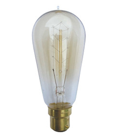 Carbon Filament E27 ST57 Pear Shape 25W 2800K 130lm Dimmable Globe