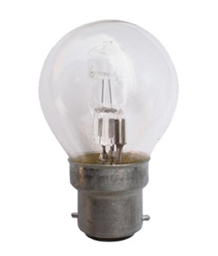 Halogen B22 Fancy Round 28W 40W Clear 2800K 370lm Dimmable Globe