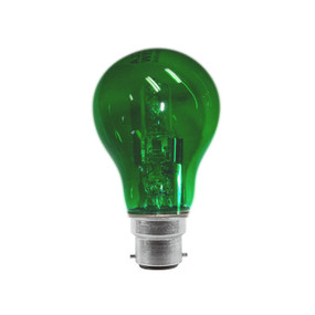 Halogen B22 GLS 28W 40W Green 340lm Dimmable Globe