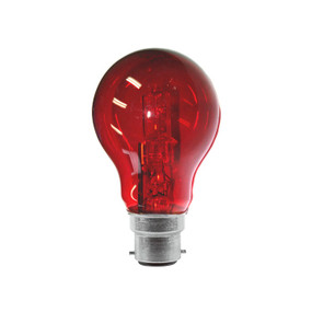 Halogen B22 GLS 28W 40W Red 340lm Dimmable Globe