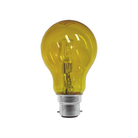 Halogen B22 GLS 28W 40W Yellow 340lm Dimmable Globe