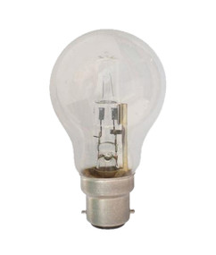 Halogen B22 GLS 42W 60W Clear 2800K 630lm Dimmable Globe