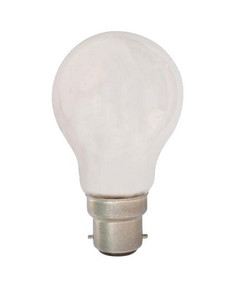 Halogen B22 GLS 42W 60W Frosted 2800K 630lm Dimmable Globe