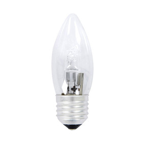 Halogen E27 Candle 28W 40W Clear 2800K 370lm Dimmable Globe