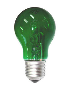 Halogen E27 GLS 28W 40W Green 340lm Dimmable Globe
