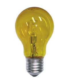 Halogen E27 GLS 28W 40W Yellow 340lm Dimmable Globe