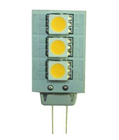 LED 12V DC G4 Corn-Shaped 1.5W Yellow 21lm Globe
