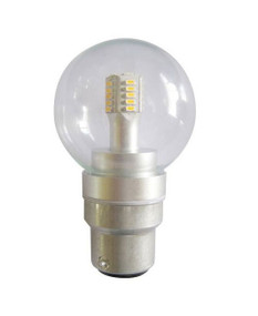 LED B22 Fancy Round 4W 3000K Clear 300D 260lm Globe