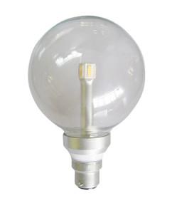LED B22 G125 6W Clear 3000K 300D 350lm Globe