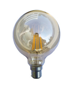 LED Carbon Filament B22 G125 6W 2200K 425lm Globe