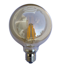 LED Carbon Filament E27 G95 6W 2200K 425lm Globe