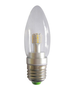 LED E27 Candle 4W 5000K Clear 300D 290lm Globe