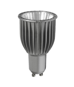 LED GU10 Silver Finish 6W COB 3000K 50D 470lm Globe