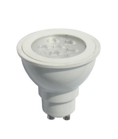 LED GU10 Dimmable 6W 5000K 38D472lm White Finish Globe