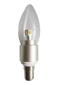LED B15 Candle Dimmable 4W 3000K Clear 300D 290lm Globe